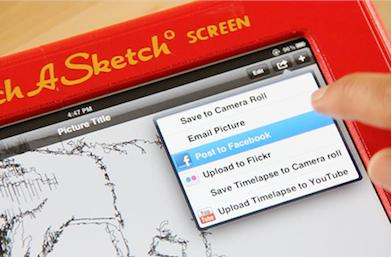 Etcher iPad case works like a real Etch A Sketch