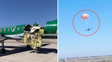 'Amazing' escape as two planes collide in mid-air