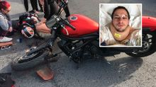 Man in motorbike crash searches for woman who helped him