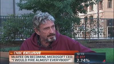 McAfee: I would fire almost everyone at Microsoft