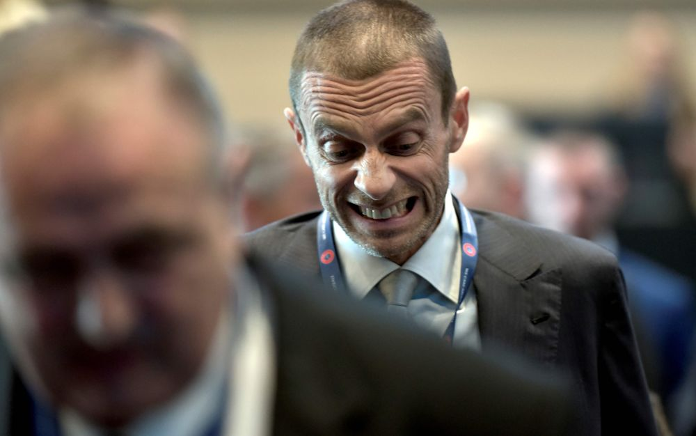 Aleksander Ceferin has said he will not be pressured by football's financial powerhouses - AFP or licensors