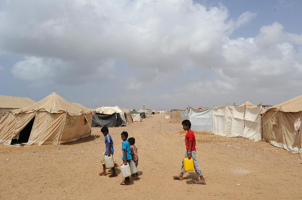 Camp residents complain of lack of food and water, sanitation, and also rough treatment by Djibouti's police (AFP Photo/Simon Maina)
