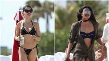 Adriana Lima y Priyanka Chopra: duelo de bikinis bajo el sol de Miami