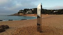Mystery surrounds monolith that appeared on popular beach