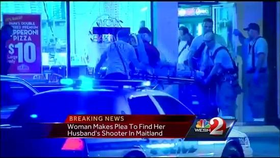 Wife makes plea to find husband's shooter