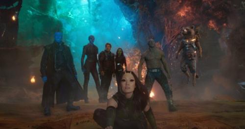 Guardians of the Galaxy Vol. 2 Yondu (Michael Rooker), Nebula (Karen Gillan), Star-Lord (Chris Pratt), Gamora (Zoe Saldana), Mantis (Pom Klementieff), Drax (Dave Bautista), Rocket (Bradley Cooper), and Groot (Vin Diesel)