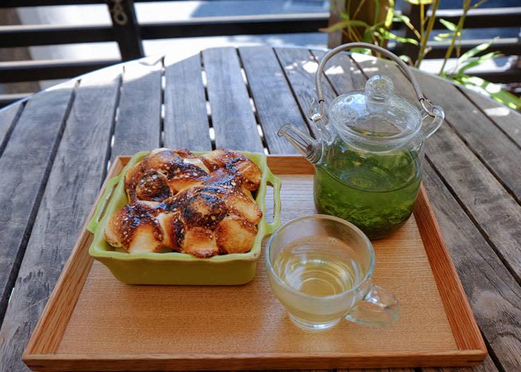 抹茶冰淇淋烤棉花糖 嚴選茶葉套餐(抹茶のフローズンスモア厳選茶葉セット)1296日元 (含稅)