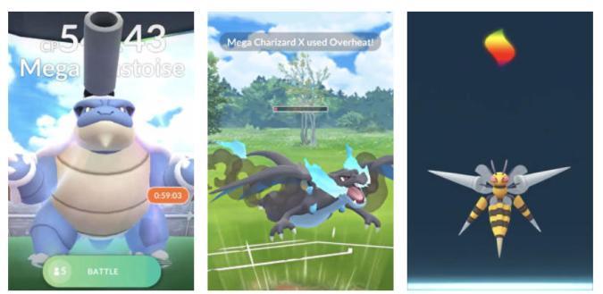 Mega Evolutions in Pokemon Go