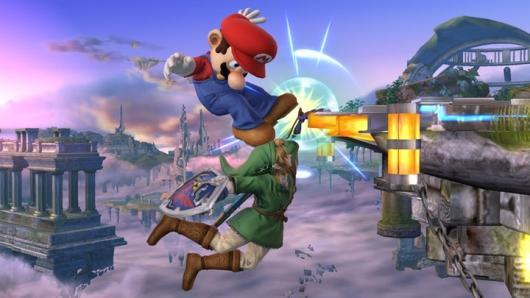 New Smash Bros. screen shows changes to edge-grab system