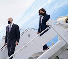 Fact check: President Biden and Kamala Harris did not fly aboard Air Force One together