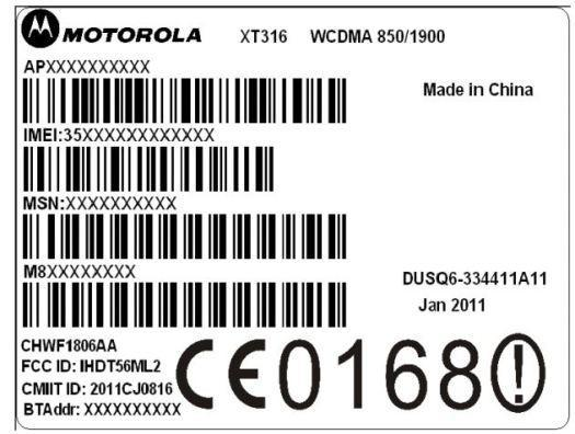 Motorola XT316 passes second round at FCC, this time endowed with AT&T 3G