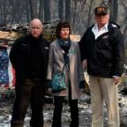 Trump blames forest management again on California fires visit