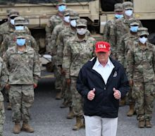 Trump seeks to shore up military support in North Carolina campaign swing