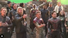 Here's a BTS Video of The Avengers Singing 'Happy Birthday' to Josh Brolin