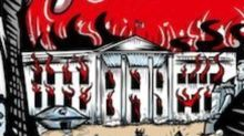 Pearl Jam Under Fire Over Poster Featuring Trump-Like Body Outside Burning White House