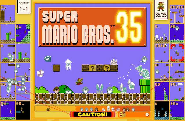 'Super Mario Bros. 35' turns the classic platformer into a battle royale
