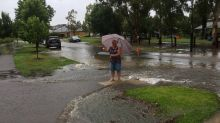 Flash flooding in outer Melbourne