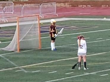 Girls Lacrosse prior to coronavirus shutdown.