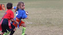 Watch this 6-year-old girl outrun all the boys on the football field: 'She is a beast'