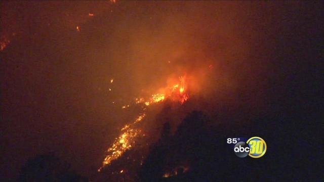 Hunters Fire burns 500 acres near Lake McClure