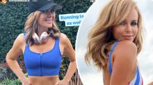 Amanda Holden, 49, shows off gym body in skin-tight active fit