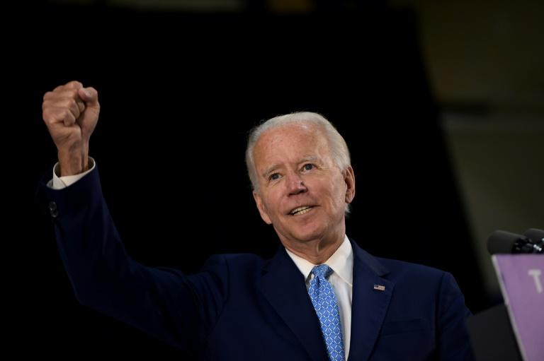 US Democratic presidential candidate Joe Biden's campaign and that of his progressive ex-rival Bernie Sanders have unveiled joint policy proposals ahead of the Democratic National Convention, set for August 17-20, 2020 in Milwaukee (AFP Photo/Brendan Smialowski)