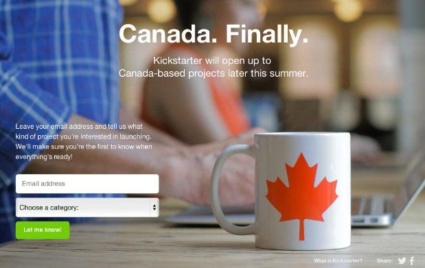 Kickstarter plans North American expansion, launches in Canada this summer