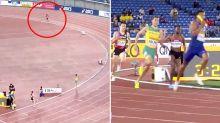 Female runner at centre of brutal tactical blunder in relay against men