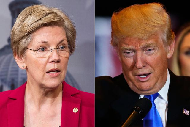 Donald Trump, Elizabeth Warren