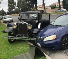 The way this man's Ford Model A was wrecked is every car enthusiast's worst nightmare