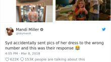 Mulher pede opinião sobre vestido por mensagem para número errado e acaba ajudando garotinho com leucemia