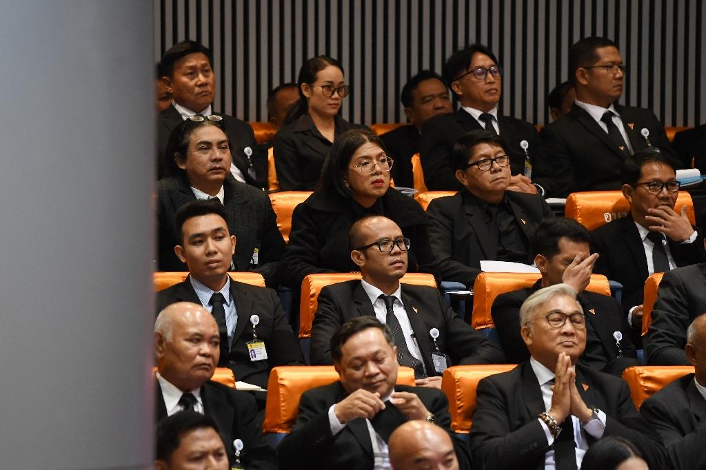 Tanwarin is one of four transgender MPs in the Thai parliament (AFP Photo/Lillian SUWANRUMPHA)