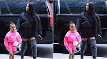 Kim Kardashian Straightens North's Hair