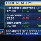 Broadcom lowers bid for Qualcomm to $79 per share, down from $82 per share