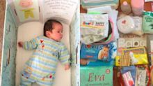 How does the new baby box offered to parents compare to other countries?
