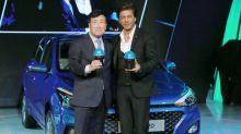Bollywood Superstar Shah Rukh Khan Unveils Portable Bin for Cars