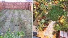 Couple transforms their garden into a stunning tropical paradise