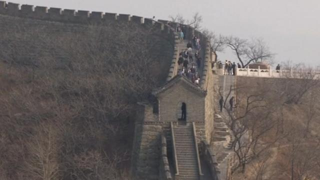 U.S. First Lady visits the Great Wall of China