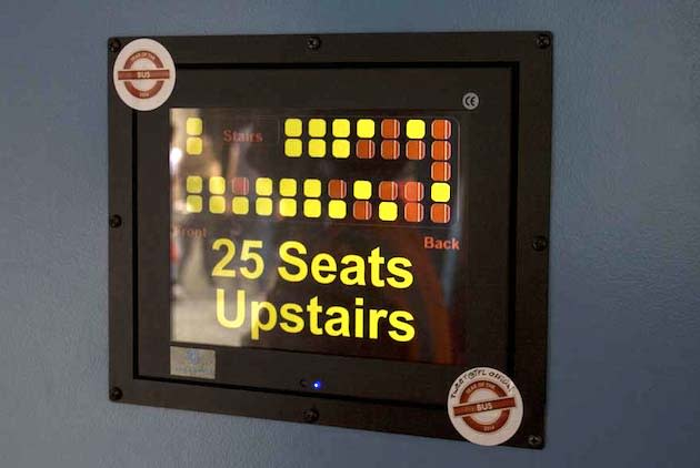 Smart London buses get real-time map and empty seat displays