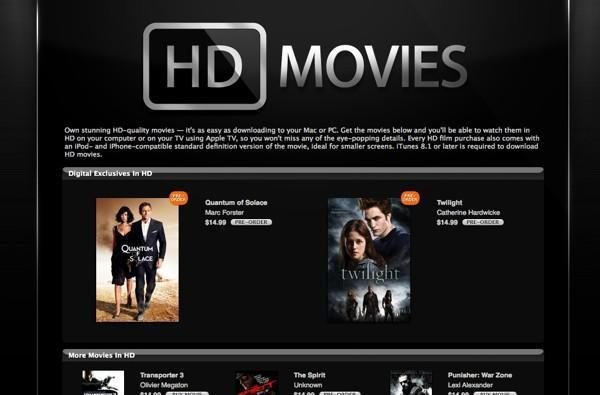 Apple adds HD video purchases to the iTunes Store