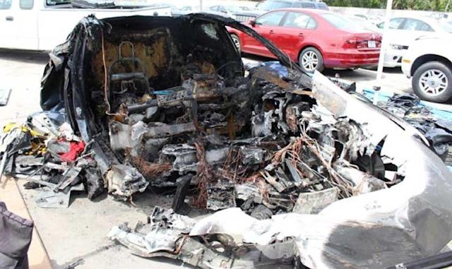 NTSB: Model S battery caught fire twice after Florida crash