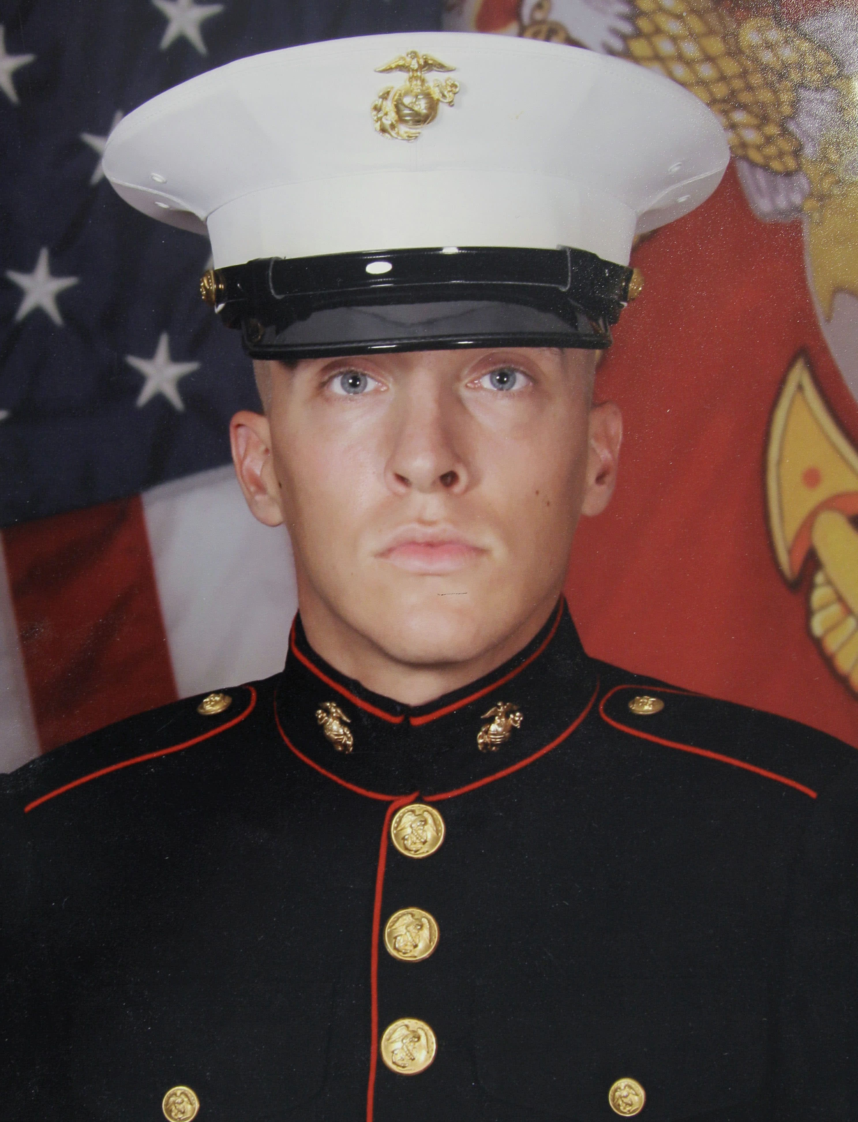In this undated photo provided by the Department of Defense via the Wise family in Little Rock, Ark., Beau Wise poses in his U. S. Marine Corps uniform. Wise has had two brothers die in Afghanistan. (AP Photo/Department of Defense)