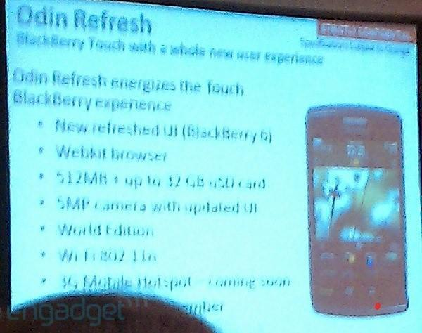 BlackBerry Storm3 is actually a warmed-over Storm2?