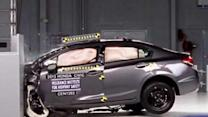 Report tests small cars for front-end collision safety