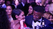 Katie Holmes and Jamie Foxx 'wrestle in the sand' to debunk breakup rumors