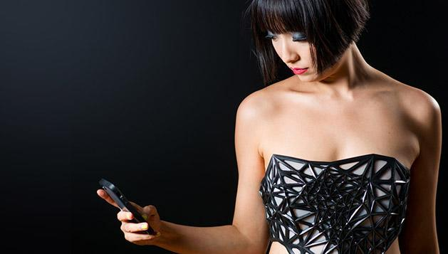 3D-printed corset turns see-through the more time you spend online