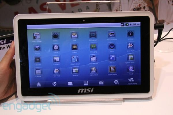 MSI WindPad 100W and 100A tablets hit CES 2011, we go hands-on