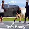 Michael Jordan played pick-up basketball with Tom Brady, talked so much trash