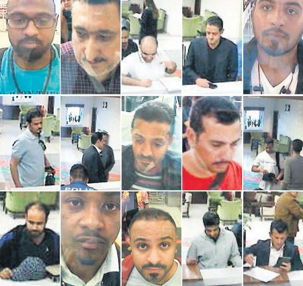 Police CCTV video allegedly shows members of a group of Saudi citizens that Turkish police suspect of being involved in Khashoggi's disappearance (AFP Photo/-)