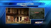 Baby hospitalized after apartment fire